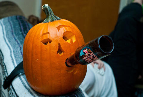 Drinking+Pumpkin